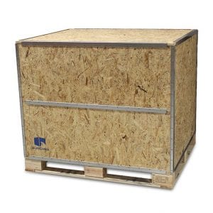 48x48x48 Wood Shipping Crate w/ Loading Panel - SharkCrates