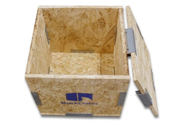 Wood Shipping Crate | 14 x 14 x 14 top view
