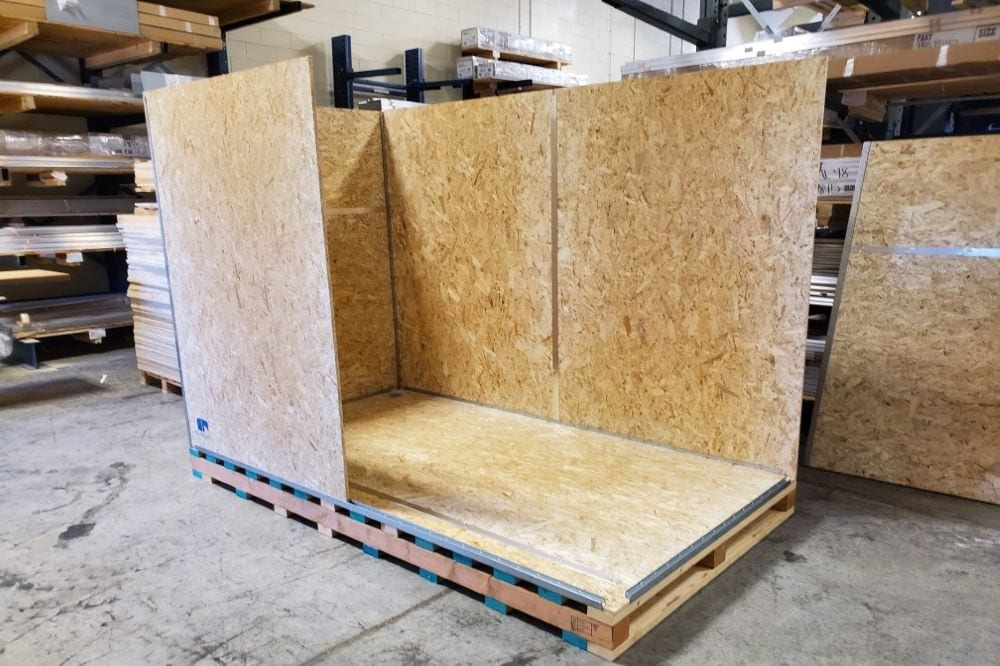 Large custom shipping crate