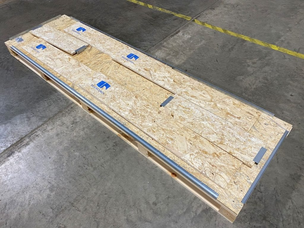Fully Collapsed Shipping Crate With Three Levels
