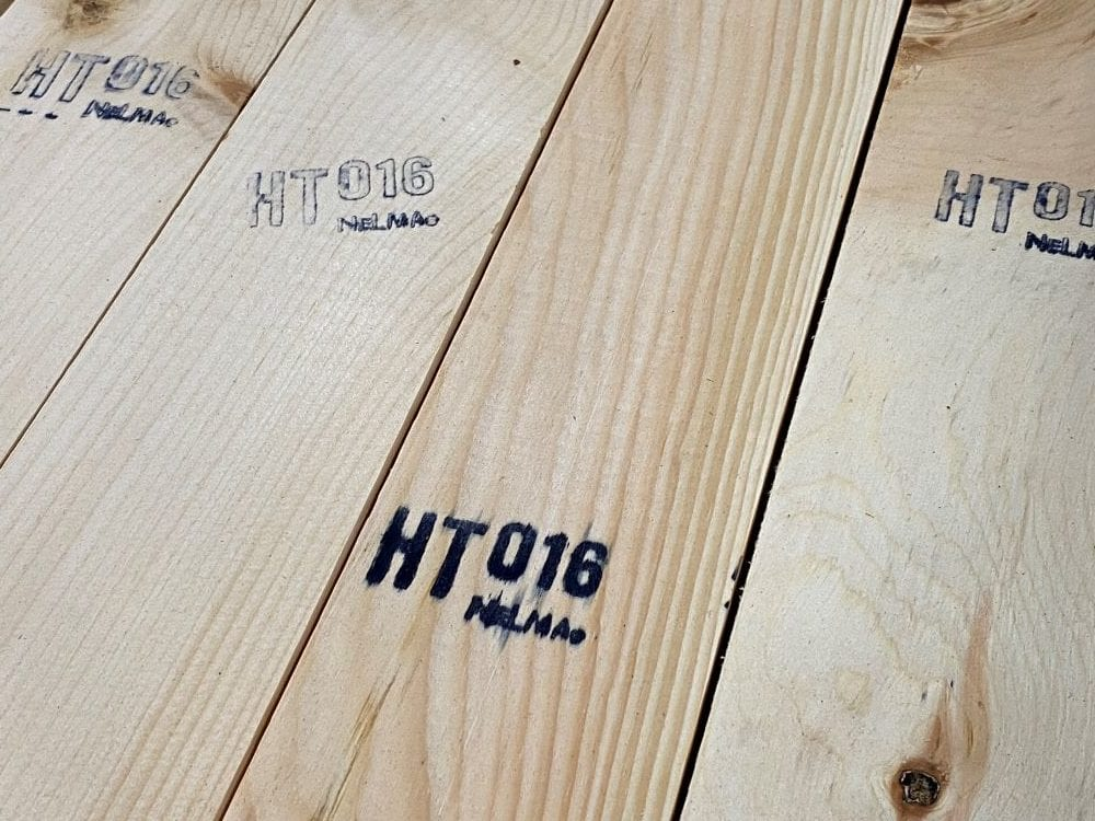 HT Stamp for heat treated lumber
